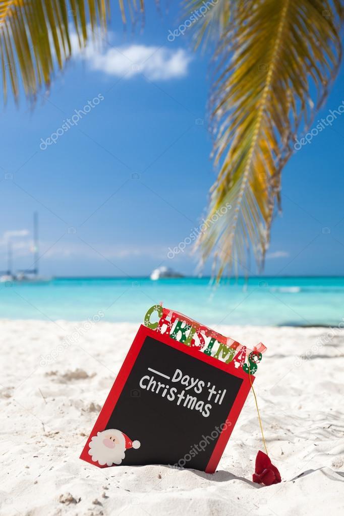 Fabulous Aftellen tot Kerstmis vakantie op tropische vakantie — Stockfoto  MD11