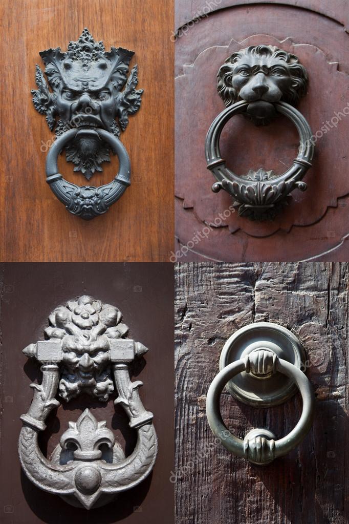 Antique door knockers — Stock Photo - Antique Door Knockers — Stock Photo © Marylooo #84716160