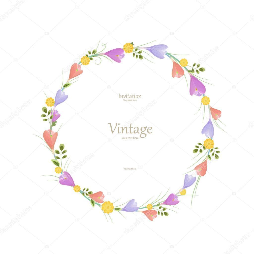 marco floral redondo — Vector de stock © Oksana #108122540