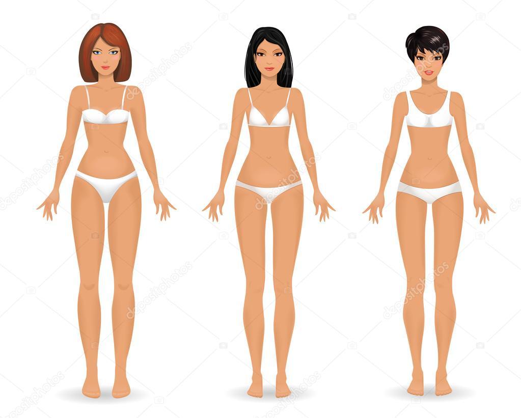 Sammlung weiblicher Körper — Stockvektor © Oksana #52766411