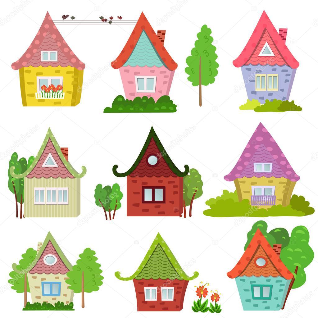 Cute Houses 귀여운 집 스톡 벡터 169 Oksana 54164079