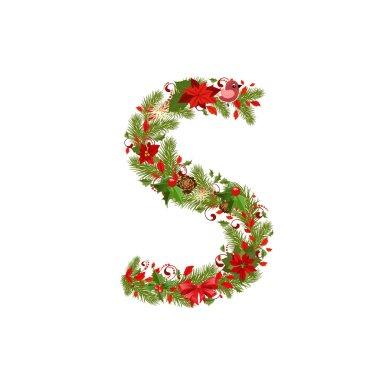 Christmas tree letter S