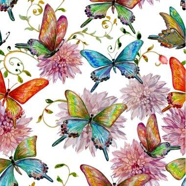 flying butterflies texture