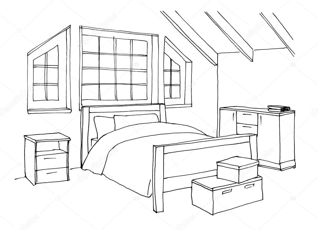 Habitacion dibujo images galleries for Dormitorio para dibujar facil