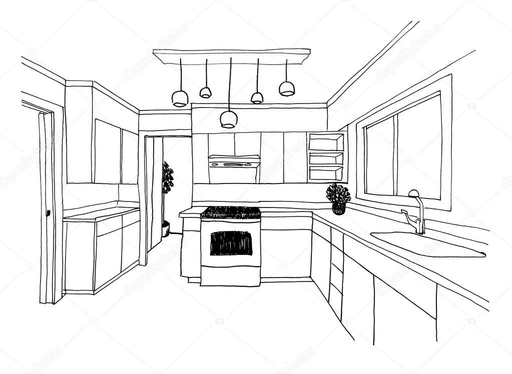 schizzo grafico, la cucina — foto stock © irogova #119647708