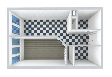 3D rendering apartment