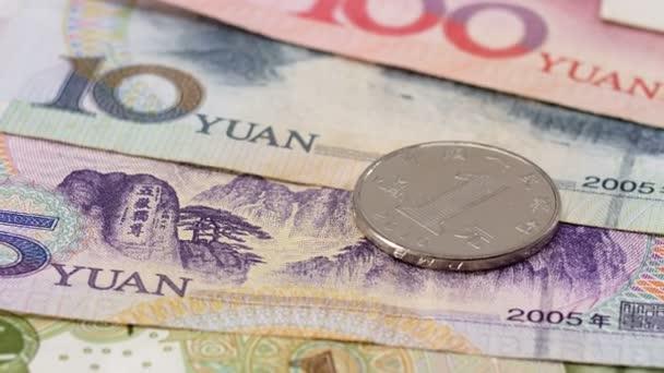 Jüan bank bankjegyek és a pénzérmék üzleti háttér
