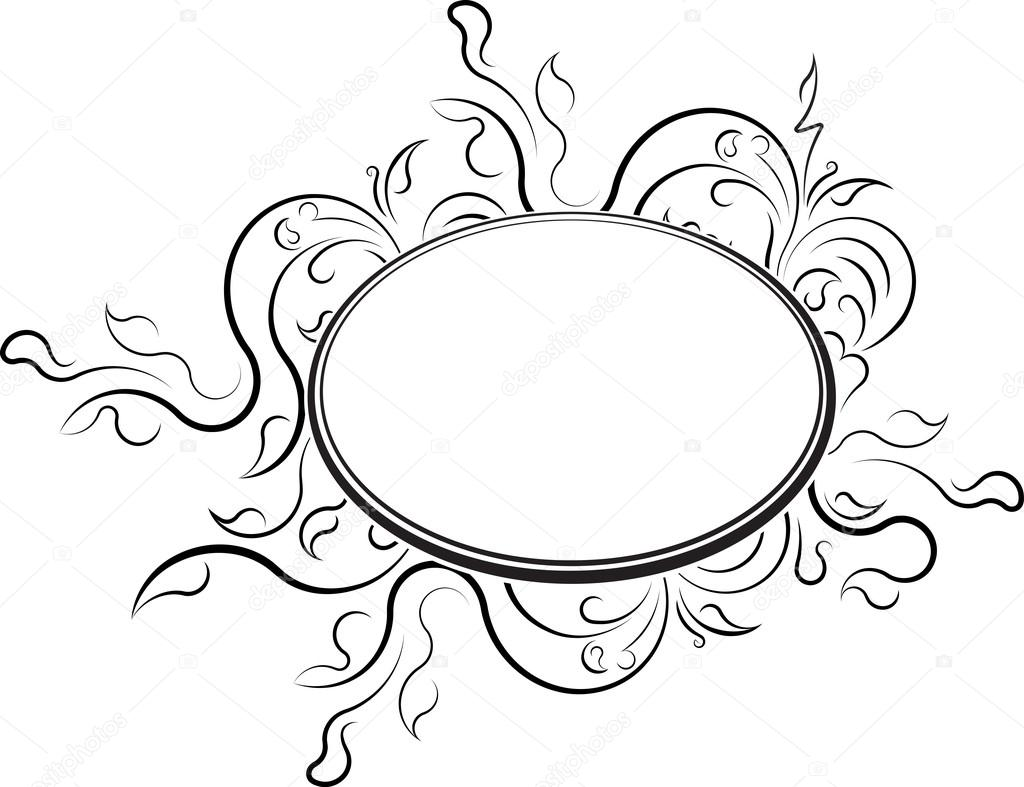 elegante ovale Rahmen — Stockvektor © antonshpak #103705118