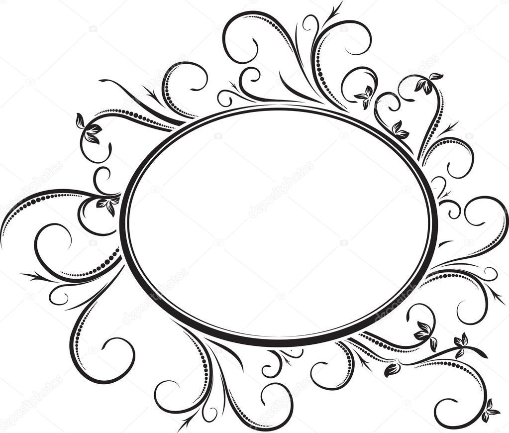 elegante ovale Rahmen — Stockvektor © antonshpak #103705134