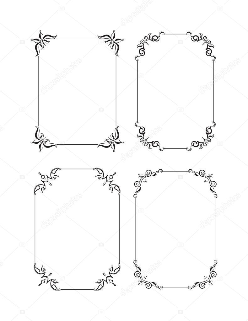 Linea decorativa clipart conjunto de marcos decorativos for Conjunto de espejos decorativos