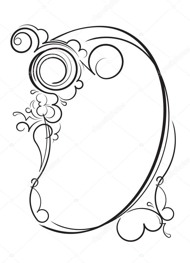 elegante ovale Rahmen — Stockvektor © antonshpak #106486126