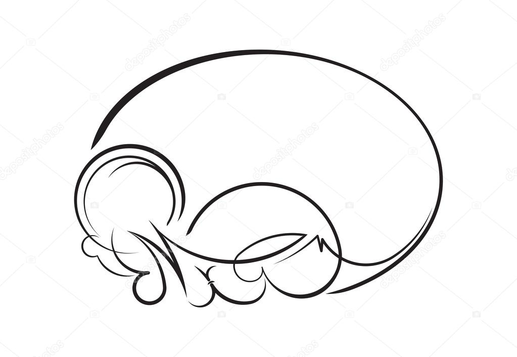elegante ovale Rahmen — Stockvektor © antonshpak #107242260