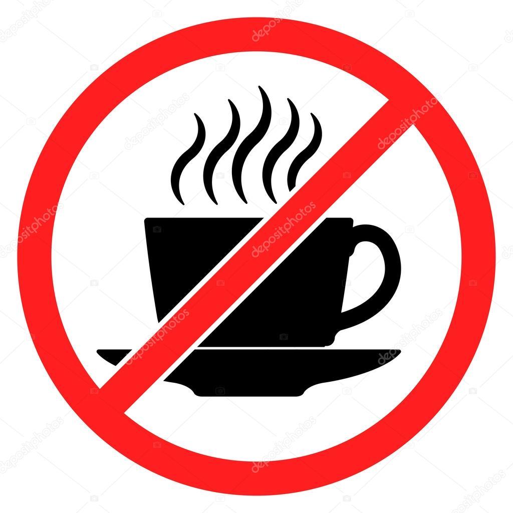 geen koffie drinken
