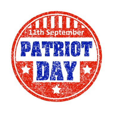11th September Patriot day emblem