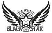 Fotografie Black star motorcycle club design