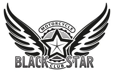 Black star motorcycle club design