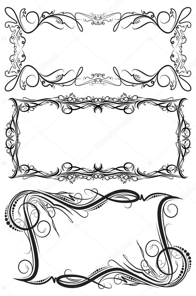 marcos vectoriales — Vector de stock © antonshpak #62275399