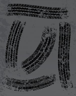 Traces of tires background