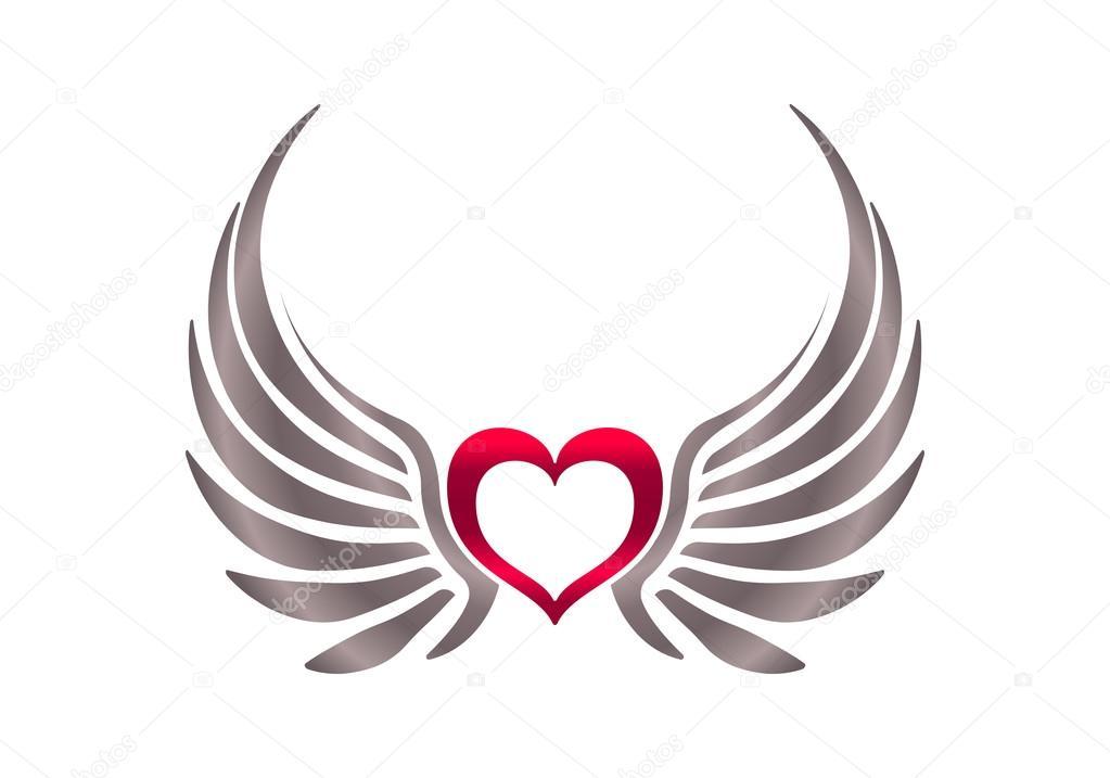 Corazón Con Alas Archivo Imágenes Vectoriales Antonshpak 66396313