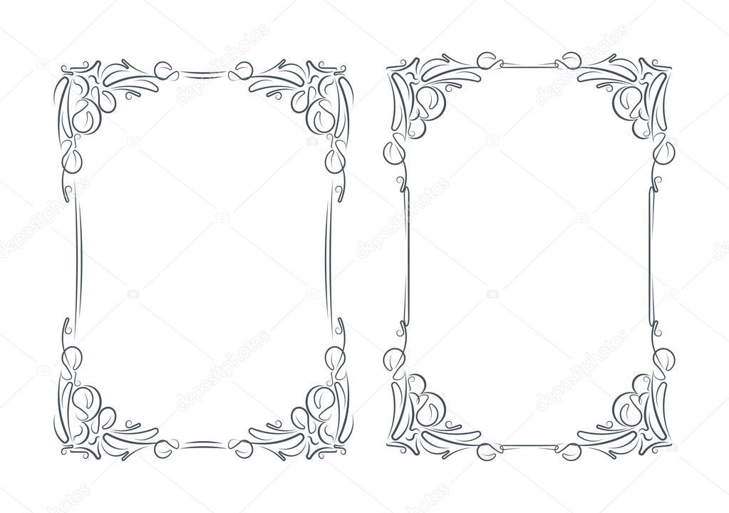 Pair of elegant frames — Stock Vector © antonshpak #69226873
