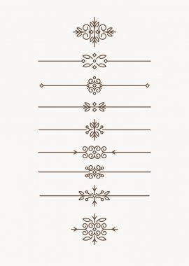 Set of decorative text dividers