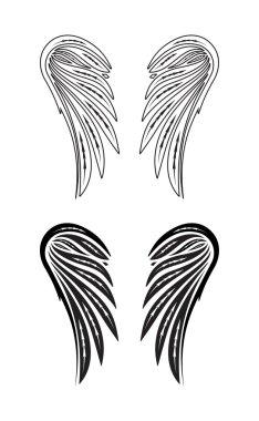 Two pair wings of angel.