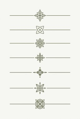 Decorative line style text dividers