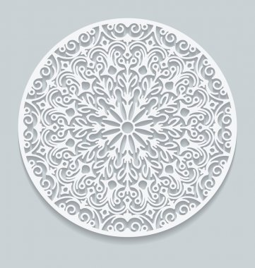 Round paper lace doily