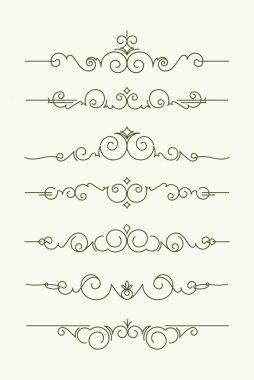 decorative text dividers.