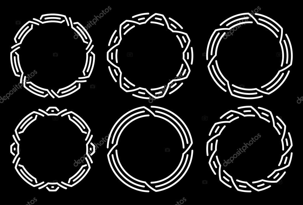 Conjunto de Marcos blancos redondos — Vector de stock © antonshpak ...