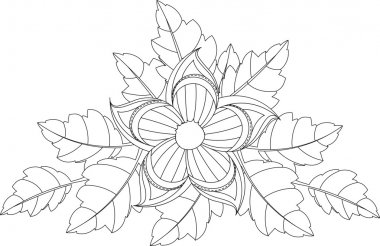 Doodle style flower