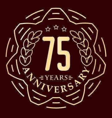Vintage anniversary round emblem