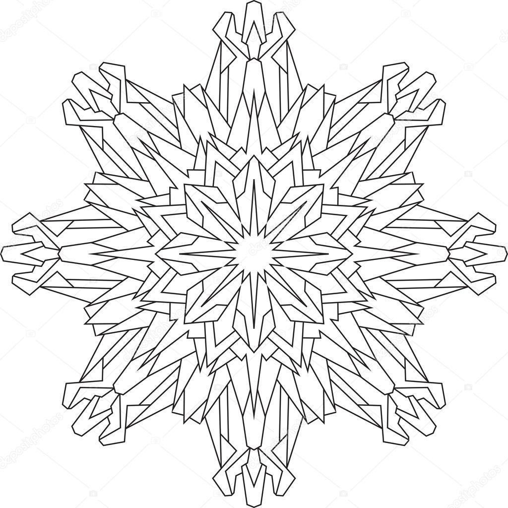 Imágenes Mono De Nieve Para Colorear Copo De Nieve En