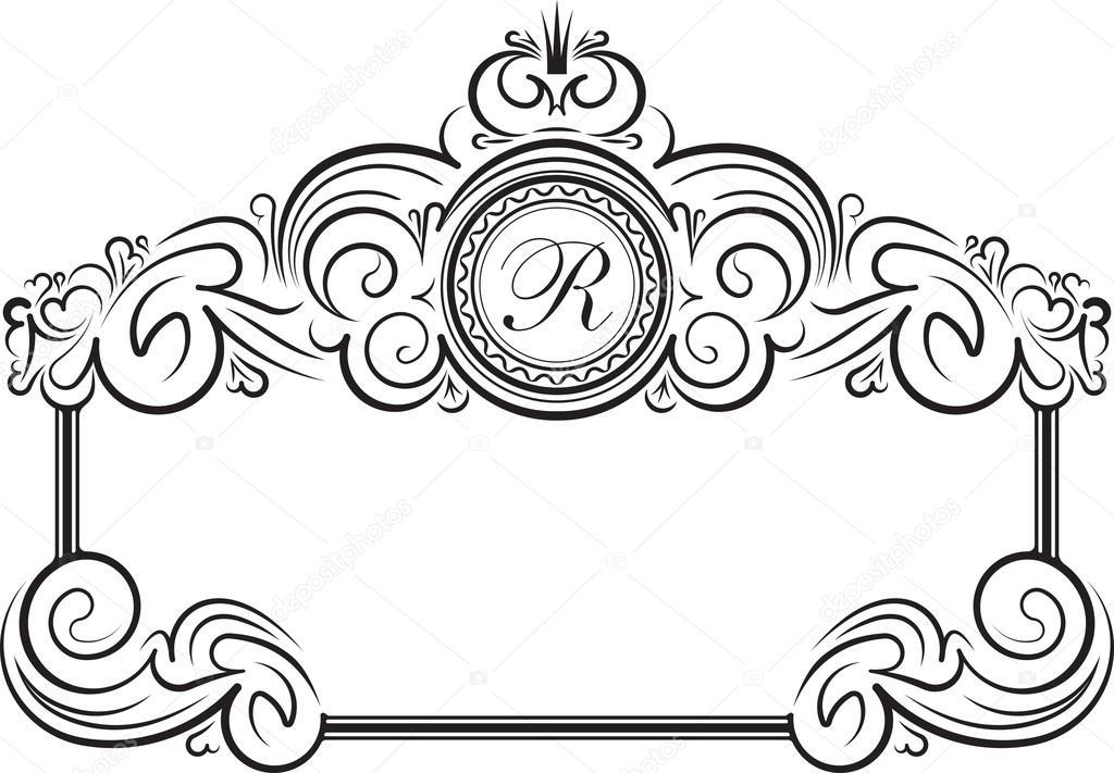 marco vintage con corona — Vector de stock © antonshpak #91088738