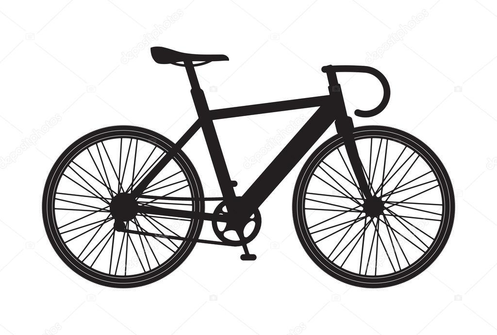 Silhouette Bicycle Mountain Icon Stock Vector C Antonshpak 92041722