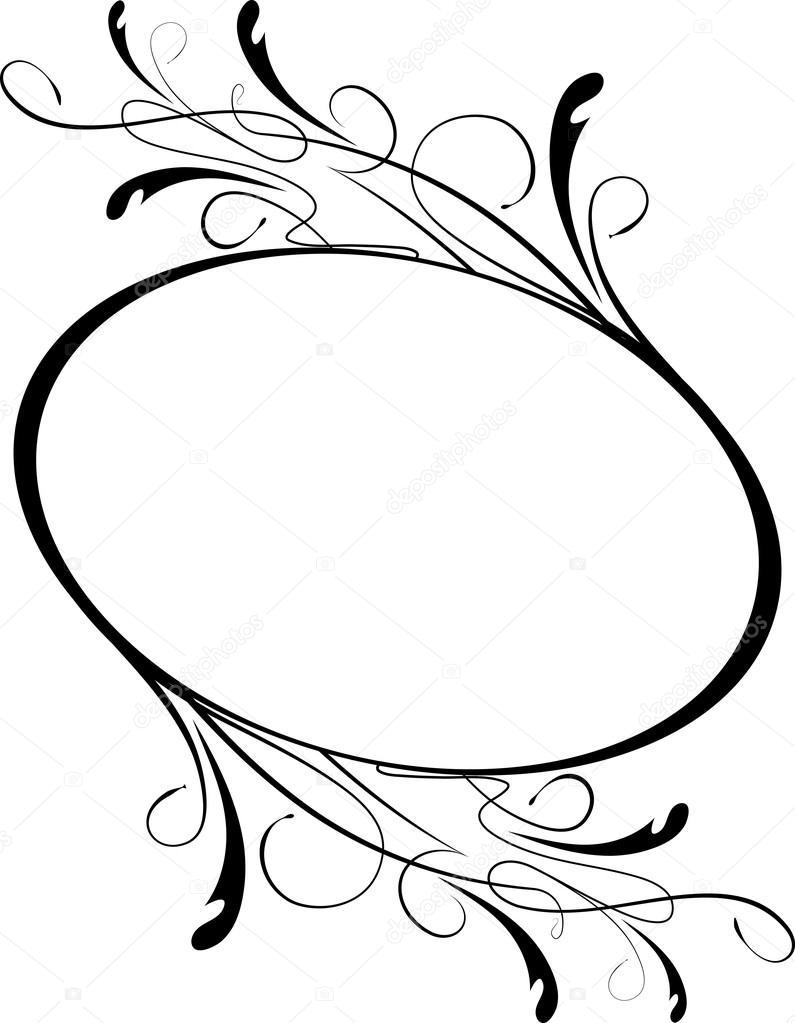 elegante ovale Rahmen — Stockvektor © antonshpak #98892224