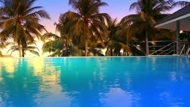 Luxus Hotel-Pool mit Palmen rund um