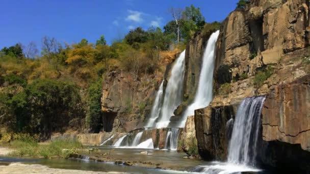 Beautiful cascade Pongour waterfall in Vietnam, Dalat