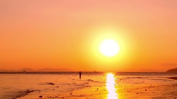 Žluté slunce obloha a slunce na obzoru