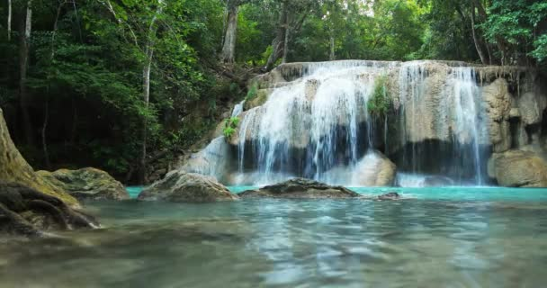 waterfall in  wild tropical forest