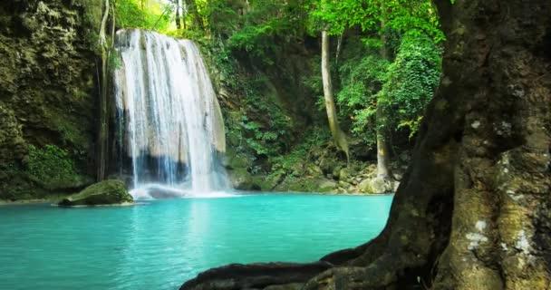 jungle lesa s krásným vodopádem