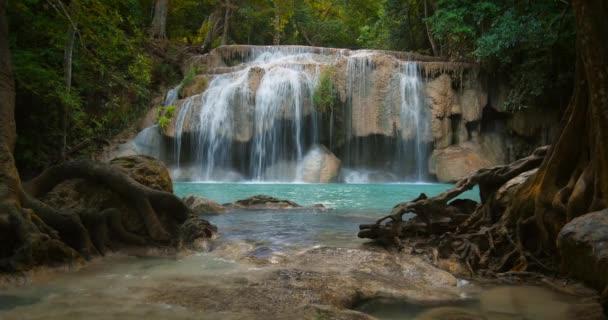 waterfall cascade in Erawan park