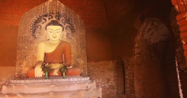 Statue of Buddha inside in Buddhist temple