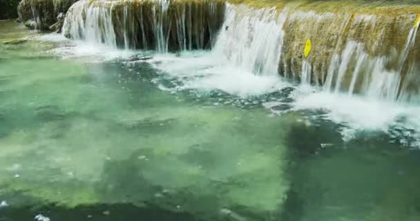 water of small waterfall