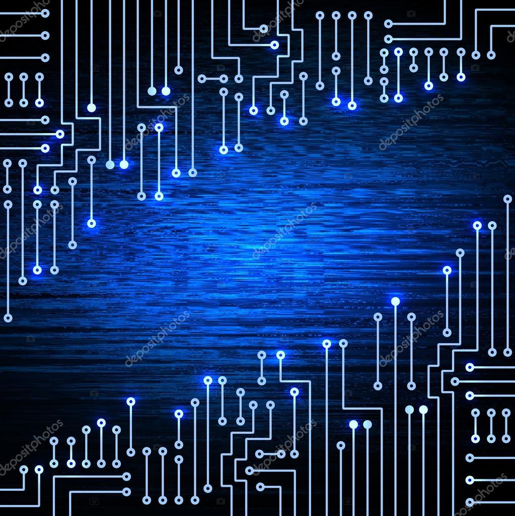 Circuito Eletronico : Circuito eletrônico em fundo azul u fotografias de stock marisha