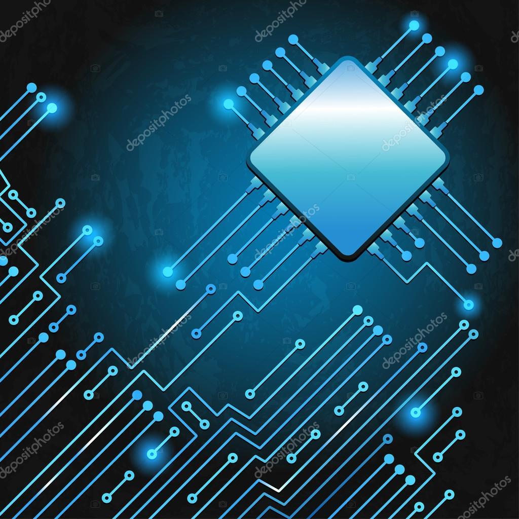 Circuito Electronico : Dibujo moderno circuito electrónico u archivo imágenes vectoriales