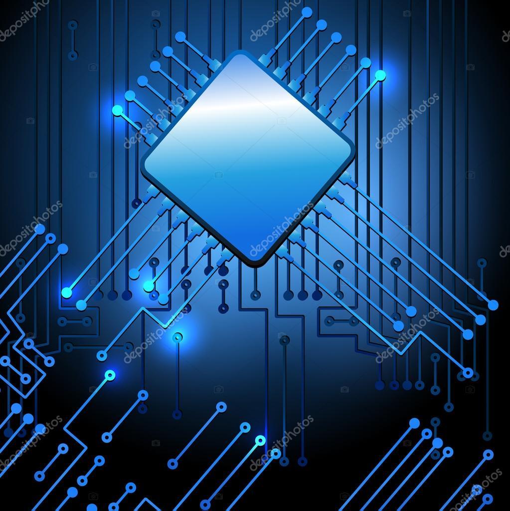 Circuito Eletronico : Desenho de circuito eletrônico moderno u vetor de stock marisha