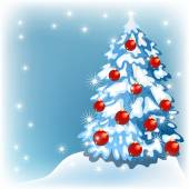 Vánoční pozadí s kůží stromy