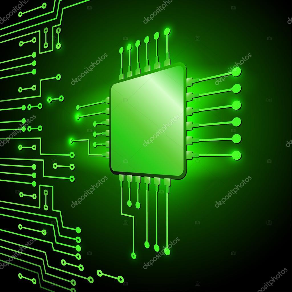 Circuito Electronico : Dibujo moderno circuito electrónico — archivo imágenes