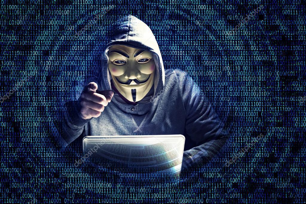 Крутые картинки хакеров в масках хакеров и в белых кофтах